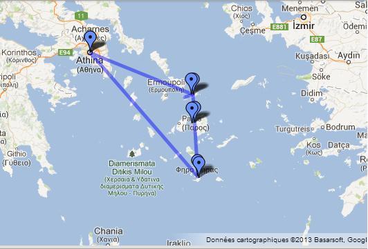 itinéraire grece